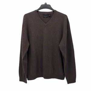 W H Belk Mens Pullover Sweater Brown Heathered XL